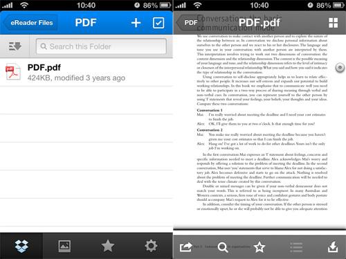 Applicazione per leggere PDF
