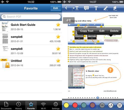 Immagine dell'applicazione Foxit Mobile PDF Reader