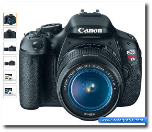 Immagine della fotocamera Canon EOS Rebel T3i