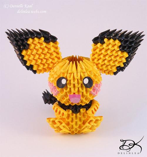 Immagine dell'origami Pokemon: Pikachu