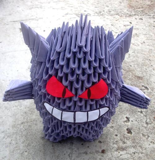 Immagine dell'origami Pokemon: Gengar