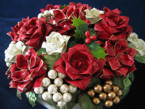 Immagine dell'origami Un vaso di fiori