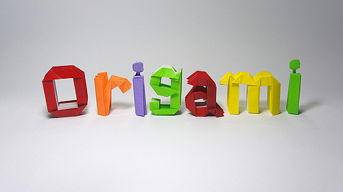 Immagine dell'origami a lettere