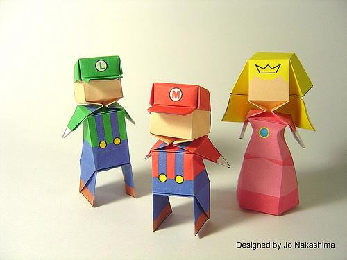 Immagine dell'origami Super Mario