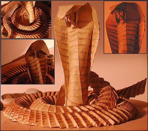 Immagine dell'origami Il terribile cobra