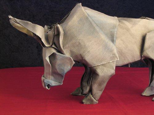 Immagine dell'origami Il toro di Pamplona