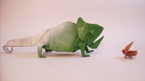 Immagine dell'origami Il camaleonte