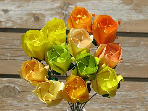 Immagine dell'origami Mazzo di rose