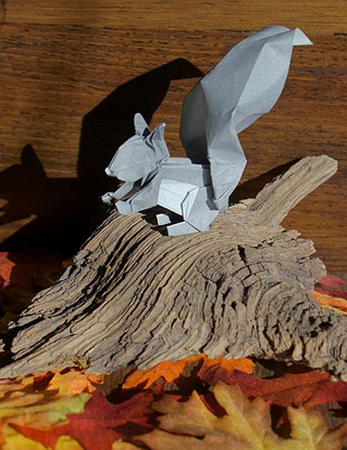 Immagine dell'origami Scoiattolo