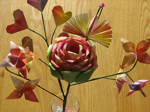 Immagine dell'origami Un bel bouquet