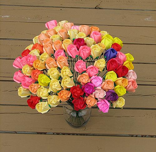 Immagine dell'origami Rose, rose, rose