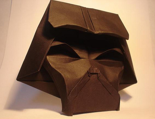 Immagine dell'origami Darth Vader