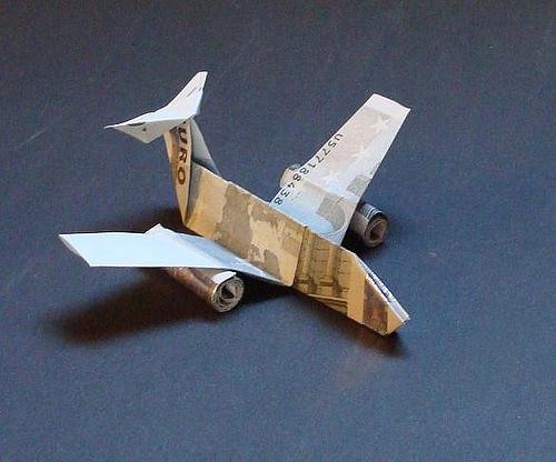 Immagine dell'origami Un jet