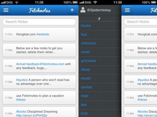 Immagine dell'applicazione Fetchnotes