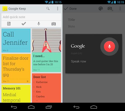 Immagine dell'applicazione Google Keep