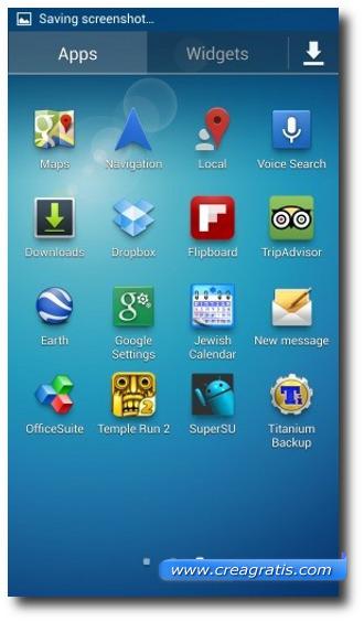 Schermata S4 con l'applicazione SuperSU