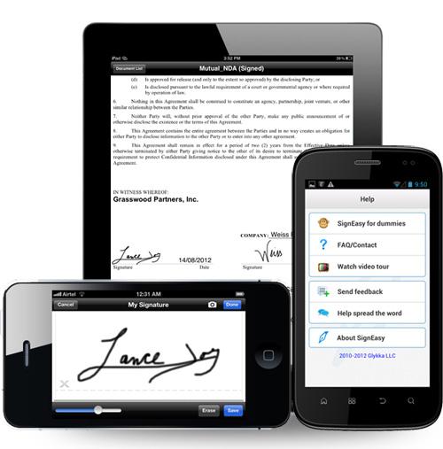 Immagine dell'applicazione SignEasy