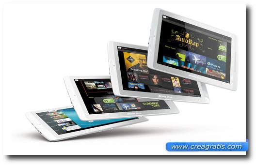 Immagine generica sul sistema operativo dei tablet