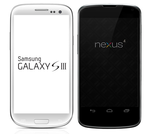 Immagine di due smartphone Android di esempio