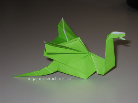Istruzioni Origami Drago n.35