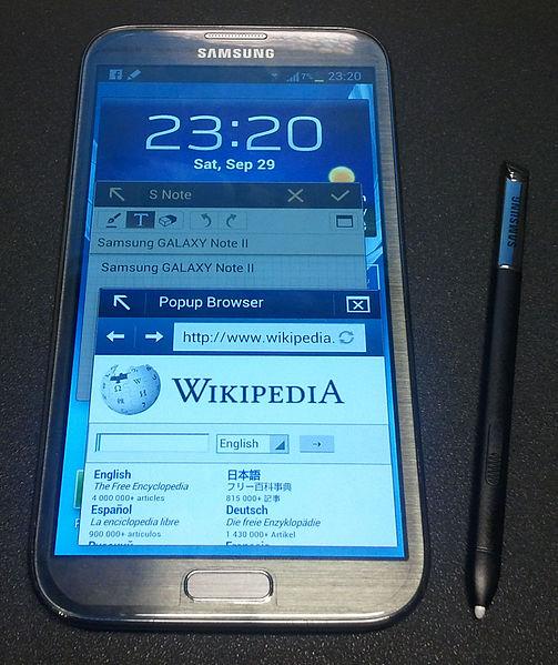 Immagine dello smartphone Samsung Galaxy Note 2