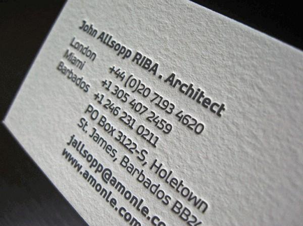 Biglietto da Visita Architetti Geometri n.14