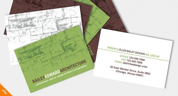 40 esempi di biglietti da visita per architetti e geometri for Architetto gratis online