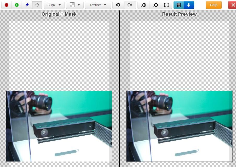 Immagine dello strumento online di ClippingMagic.com