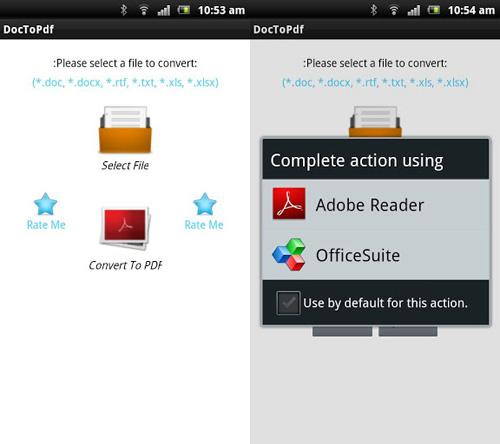 Immagine dell'applicazione DocToPDF