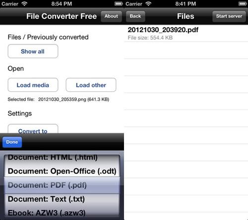 Immagine dell'applicazione File Converter