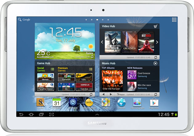 Immagine del tablet Galaxy Note da 10,1 pollici