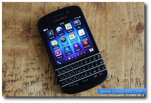 Immagine dello smartphone BlackBerry Q10