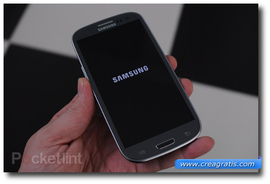 Immagine dello smartphone Samsung Galaxy SIII