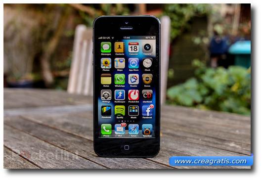 Immagine dello smartphone Apple iPhone 5