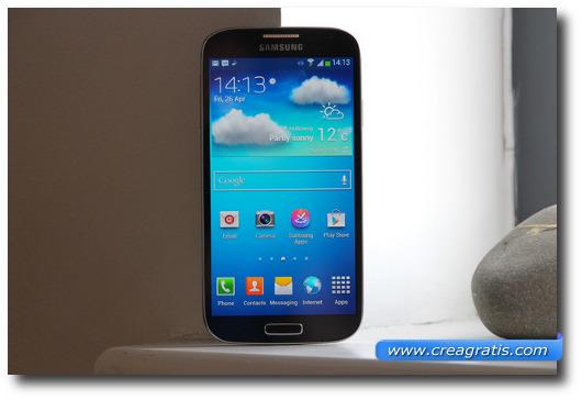 Immagine dello smartphone Samsung Galaxy S4
