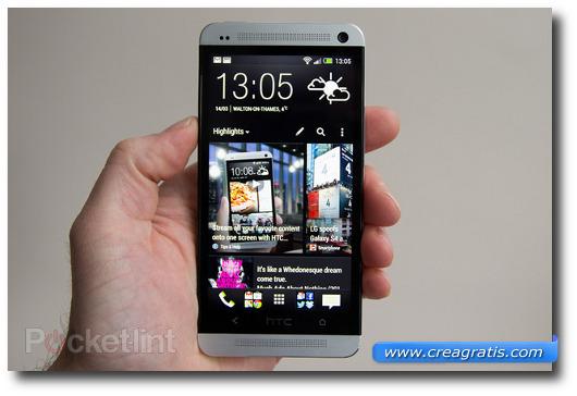 Immagine dello smartphone HTC One