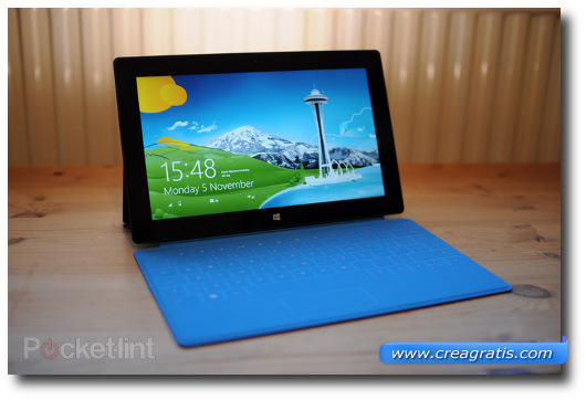 Immagine del tablet  Microsoft Surface RT