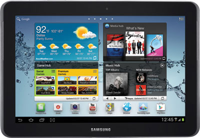 Immagine del tablet Galaxy Tab 2 da 10,1 Pollici