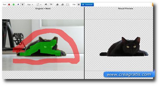 Immagine dello strumento del sito ClippingMagic