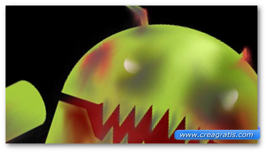 Immagine sul malware Android/IRC Bot