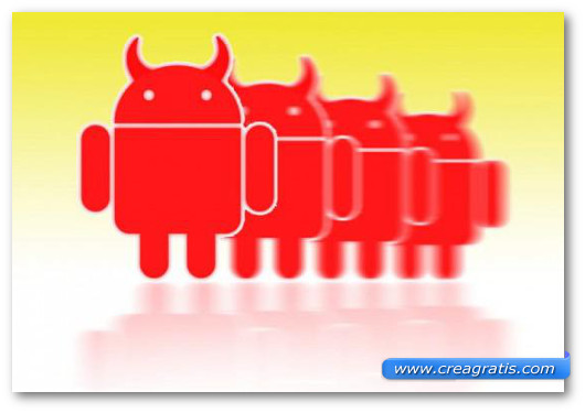 Immagine sul malware Android Funsbot.A