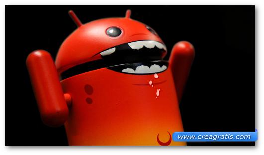 Immagine sul malware Android/Plankton.A