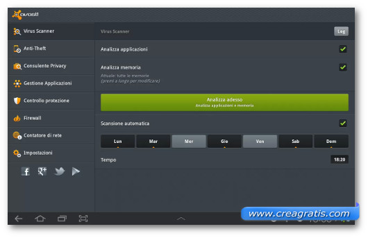 Immagine dell'antivirus avast! Free Mobile Security