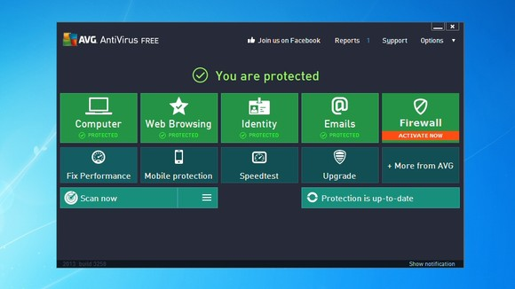 Schermata di AVG Antivirus Free
