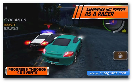 Immagine del gioco di corsa Need For Speed: Hot Pursuit per Android