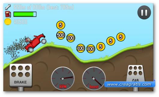 Gioco di corsa Hill Climb Racing per Android