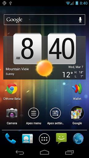 Schermata dell'applicazione Apex Launcher per Android