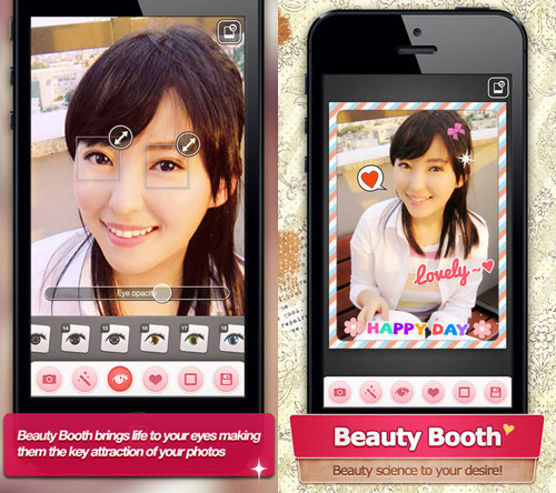 Schermata dell'applicazione Beauty Booth Pro per Android e iPhone