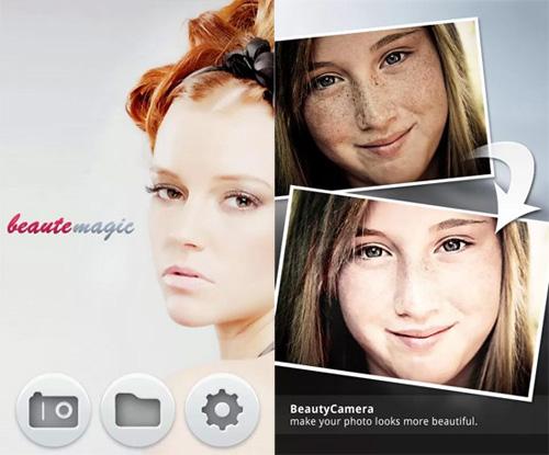 Schermata dell'applicazione Beauty Camera per Android