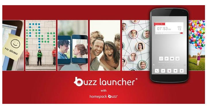 Schermata dell'applicazione Buzz Launcher per Android